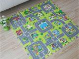 Interlocking Children S Floor Mats 9pcs Baby Eva Foam Puzzle Play Floor Mat toddler City Road Carpets
