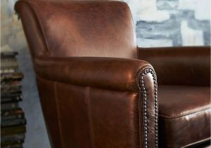 Irving Leather Chair Irving Leather Armchair with Nailheads Pottery Barn Au