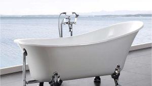 "Is My Bathtub Plastic Hibana 69"" Acrylic Clawfoot Tub with Faucet and Handheld"