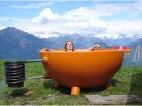 Jacuzzi Bathtub Outdoor Hot Cup Of Tub Portable Wood Fired Outdoor soaking Pool