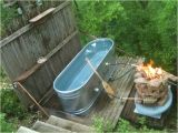 Jacuzzi Bathtub Outdoor Outdoor Tub with Fire System to Warm the Water