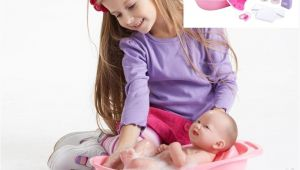 Jc toys Baby Doll Bathtub Jc toys Baby Doll Bath towel Bathtub Bottle Newborn Kid