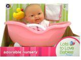 Jc toys Baby Doll Bathtub Jc toys Lots to Love with Bathtub Doll Walmart