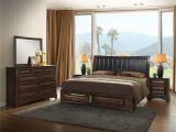 King Platform Bedroom Sets Broval Light Espresso Wood King Size Storage Bedroom Set King