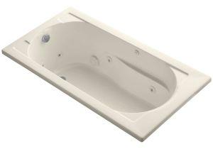 """Kohler Bathtubs with Air Jets Shop Kohler K 1357 Devonshire Collection 60"""" Drop In"""