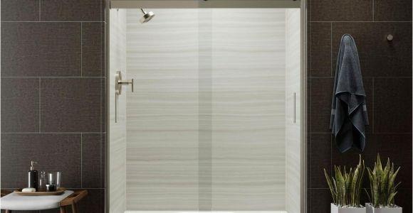 Kohler Levity Shower Door Review Kohler Levity 59 In X 74 In Semi Frameless Sliding Shower Door In