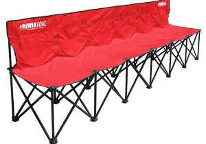 Kwik Goal 6 Seat Kwik Bench Kwik Goal 9b9061 6 Seat Kwik Bench Red soccer Amazon Canada