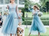 Lace Cap Sleeve Bridesmaid Dresses Floor-length Fashion Lace Country Bridesmaids Dresses A Line Sheer Bateau Neck