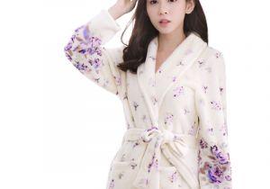 Ladies Bathrobes On Sale Hot Sale Coral Fleece Warm Long Bathrobe Women Dressing