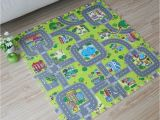 Large Children S Floor Mats 9pcs Baby Eva Foam Puzzle Play Floor Mat toddler City Road Carpets