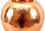 Large Decorative Copper Pots Indianartvilla Copper Hammered Matka Water Pot No Coating Copper Pot