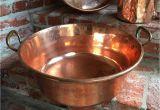 Large Decorative Copper Pots Large Antique English Copper Pot Vessel Jam Pan Brass Handle Farm