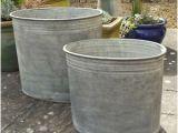 Large Garden Bathtubs Metal Oval Planters Galvanized Garden Plant Tub