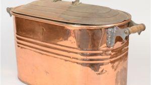 Large Oval Bathtubs Antique Copper Boiler Pot Oval Steamer Tub Wood