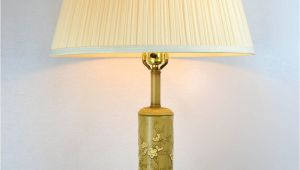 Large Yellow Floor Lamp Large Vintage Ceramic Table Lamp with Yellow Flowers by