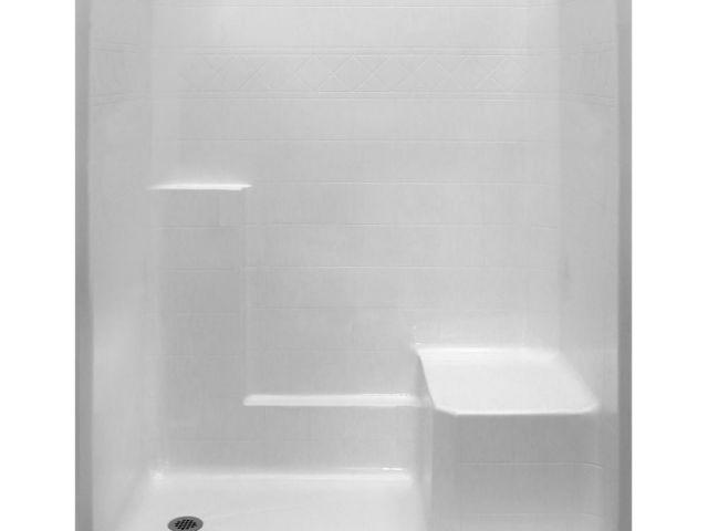 Lasco Showers Fiberglass Shower Stalls Kits Showers the Home Depot ...