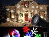Laser Christmas Tree Lights 2018 Led Moving Snowflake Spotlight Lamp Rgb Snow Laser Projector