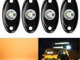Led Fog Lights for Trucks Amazon Com 4 Pods Led Rock Lights Kit Ampper Waterproof Underglow