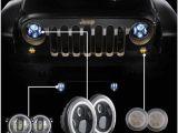 Led Fog Lights for Trucks Angle Eye Set 7 Inch Led Headlight with 4 Inch Led Fog Light Amber