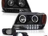 Led Fog Lights for Trucks Grand Cherokee 99 03 Wj Wg Lerado Black Halo Projector Headlight Led
