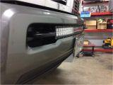 Led Light Bar Bumper Mounts 30 Curved Led Light Bar Installed Flush In Between tow Hooks