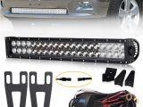 Led Light Bar Bumper Mounts Amazon Com 22 Dual Row Straight Combo Beam Led Light Bar Dodge
