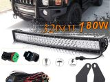Led Light Bar Bumper Mounts Amazon Com Uni Filter Dot Approved 32inch 180w Curved Led Light Bar