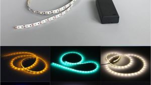Led Light Strips Battery Powered 3528 2 Aa Battery Powered 50cm Strip Light Tape Flexible Tape Tv Dc3v Laptop Warm White