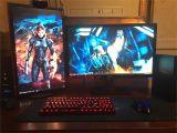 Led Lights for Gaming Setup First Battlestation A Work In Progess Gaming Setup Pinterest