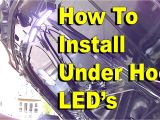 Led Underhood Work Light How to Install Under Hood Led Lights Youtube
