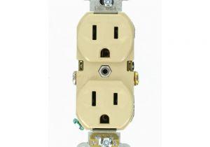 Leviton Floor Receptacles Leviton 15 Amp Commercial Grade Duplex Outlet Ivory R51 Cbr15 00i
