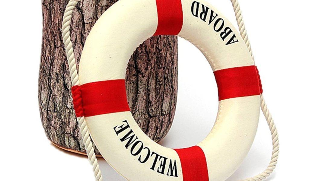 42b076ece1a8 Lifesaver Ring Decoration Welcome Aboard Foam Nautical Life Lifebuoy ...