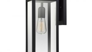 Light Bulb Changer Home Depot Globe Electric Hurley 1 Light Matte Black Outdoor Wall Mount Sconce