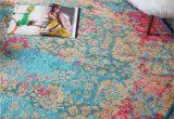 Light Pink Aztec Rug Blue 6 X 6 Palazzo Round Rug area Rugs Esalerugs Design My