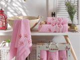 Light Pink Bath towels Amazon Com Ixirhome