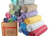 Light Pink Bath towels Set Of 6 Xl Turkish Cotton Bath Beach Spa Sauna Hammam Travel Yoga