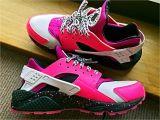 Light Pink Huaraches Nike Air Huarache Rxl Custom Peach Pink White Black Trainer