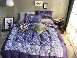 Light Purple Comforter Set 2018 Plaid White Flowers Purple Duvet Cover Set Egyptian Cotton Bed