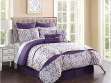 Light Purple Comforter Set 8 Piece Rianna Jacquard Purple Ivory Comforter Set Master Bedroom