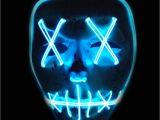 Light Up Masks for Raves 1 Pcs El Wire Mask Light Up Neon Skull Led Mask for Halloween Party