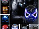 Light Up Masks for Raves Led Captain America Masks 8 Styles Glowing Lighting Spiderman Hero