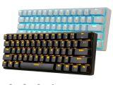 Light Up Wireless Keyboard New 61 Keys Rk61 Bluetooth Wireless White Led Backlit Ergonomic