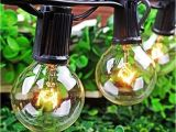 Lighted Paper Lanterns 25ft G40 Globe String Lights Fairy Bulb Light with 25 Clear Bulbs Ul