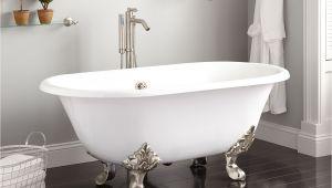 """Lion Foot Bathtub 61"""" Xavier Cast Iron Clawfoot Tub Lion Paw Feet Bathroom"""