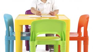 Little Tikes Bright N Bold Table and Chair Set Amazon Com tot Tutors Kids Plastic Table and 4 Chairs Set Vibrant