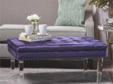 Living Room Ottoman Coffee Table Colonial Tufted Cushion New Velvet Ottoman