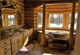 Log Home Bathroom Design Ideas Love the Logs Framing the Tub to Close