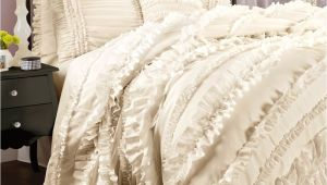 Lush Decor Belle 4 Piece Comforter Set King White Add New Life to Your Bedroom with This Flirty Feminine Four Piece