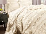 Lush Decor Belle 4-piece Comforter Set Queen Ivory Add New Life to Your Bedroom with This Flirty Feminine Four Piece