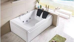 "Luxury Spa Bathtubs Empava 72"" Luxury 2 Person Spa Tub Freestanding Jacuzzi"